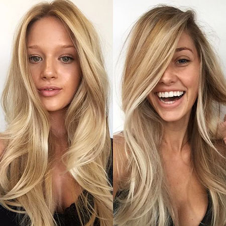 Blonde Warm Very Surgery Simple Pretty Long Layered Cute