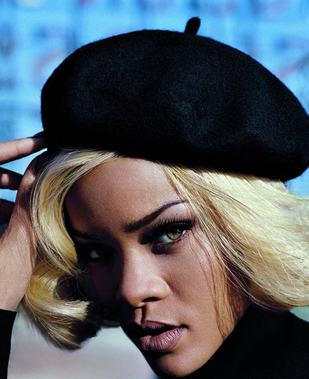 Rihanna, Blonde Hairstyles, Textured, Hat, Golden, Curly, Colour