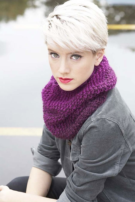 Pixie Cut, Women, Volume, Simple, Short Hairstyles, Scarf, Layered