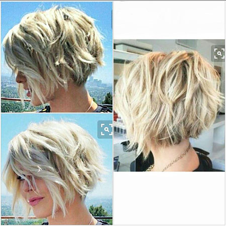 Short Hairstyles, Blonde Bob Hairstyles, Wavy, Pixie Cut, Kaley