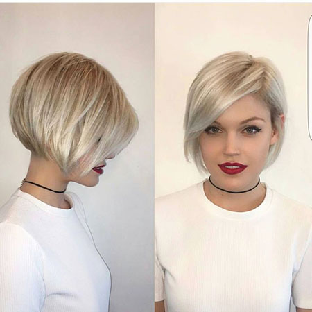 Short Hairstyles, Blonde Bob Hairstyles, 2017, Women, Very, Stacked, Pixie Cut