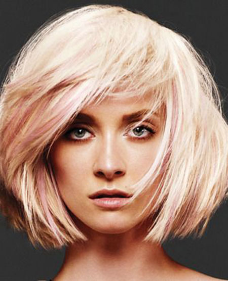 Blonde Bob Hairstyles, Short Hairstyles, Pink, One, Length, Fall