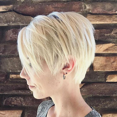 Pixie Cut, Blonde Hairstyles, Shaggy, Layered, Fine