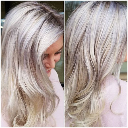 Blonde, Balayage, Work, Platinum, Pastel, Modern, Icy, Amy