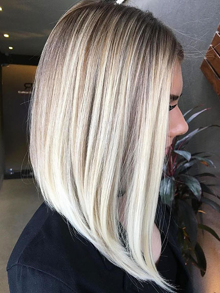 Blonde, Balayage, Bob, Women, Platinum, Medium, Long, Length, Highlights, Fun