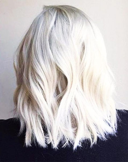 Blonde, Platinum, Balayage, White, Highlights, Frisyrer