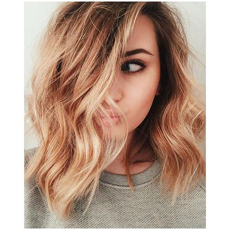 Blonde, Balayage, Strawberry, Ombre, Short, Shades