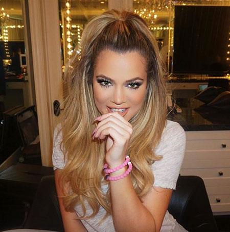 Khloe, Kardashian, Blonde