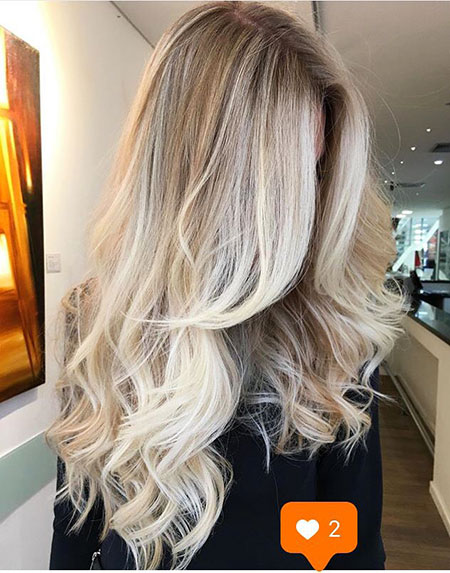 Blonde Balayage Ombre Loose Long Light Curls