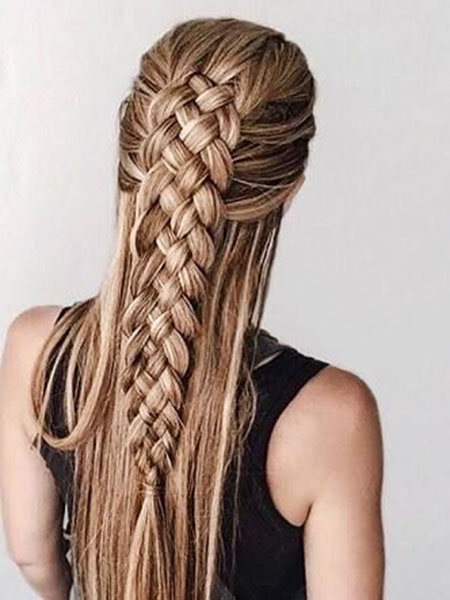 Braid, Trenza, Long, Braids, Blonde