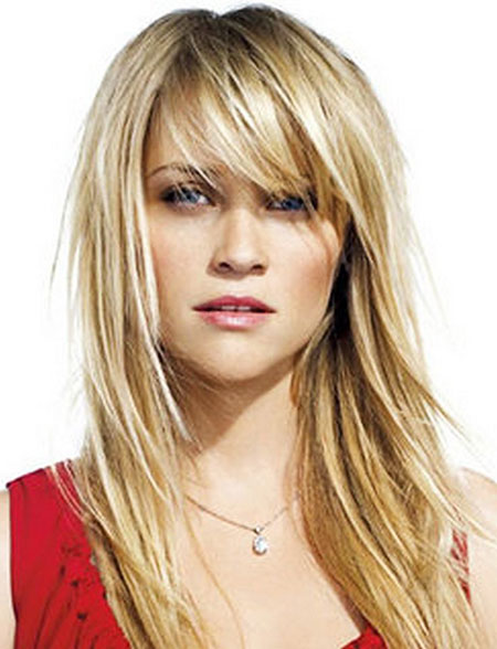 Long Bangs witherspoon Trends Swept Side Shape