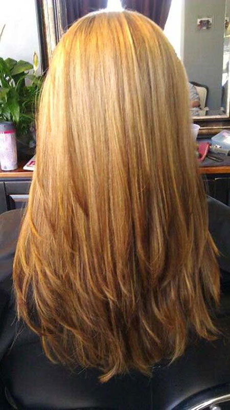 Blonde Straight Long Highlights Lowlights Layers