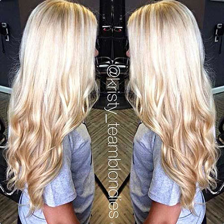 Blonde, Lowlights, Balayage, Long, Light, Curls, Big
