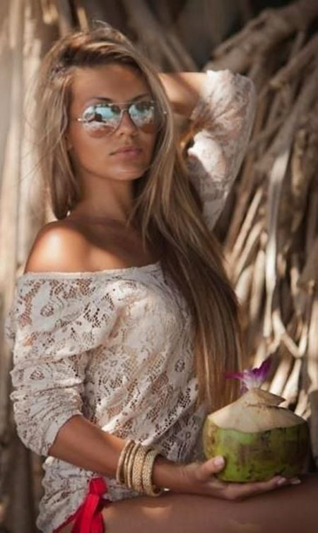 Brown Blonde Trendy Sunglasses Natural Lively