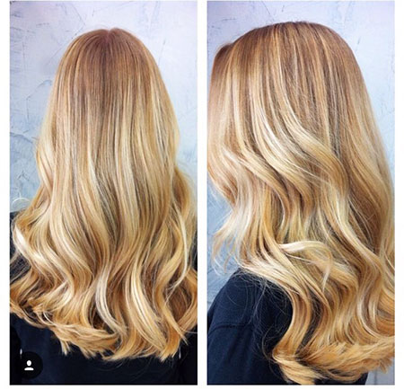 Blonde Highlights Golden Balayage Ombre