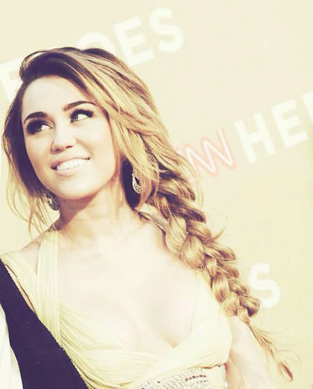 Miley, Cyrus, Wedding, Up, Side, Messy, Braids, Braid