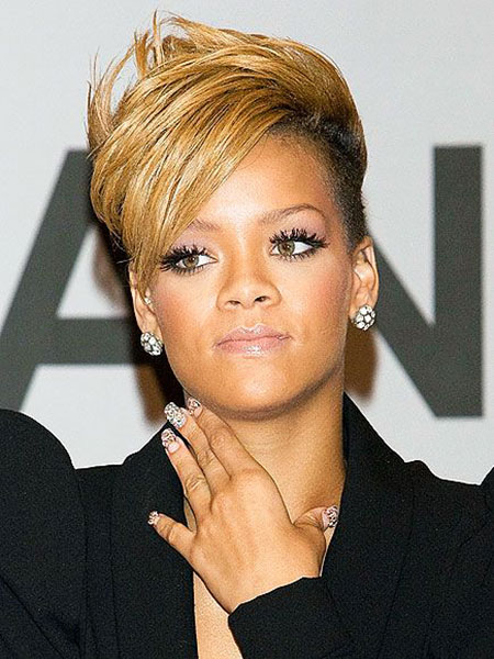 Short Hairstyles, Blonde Bob Hairstyles, Wavy, Rihanna, Long, Keri