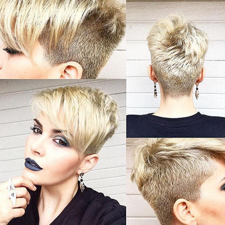Short Hairstyles, Pixie Cut, Undercut, Women, Round, Korte