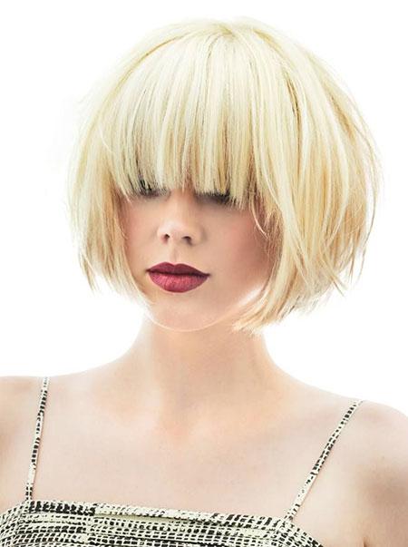 Short Hairstyles, Blonde Hairstyles, Blonde Bob Hairstyles, Bangs