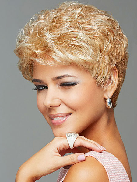 Short Hairstyles, Wig, Rose, Pixie Cut, Gold, 2017