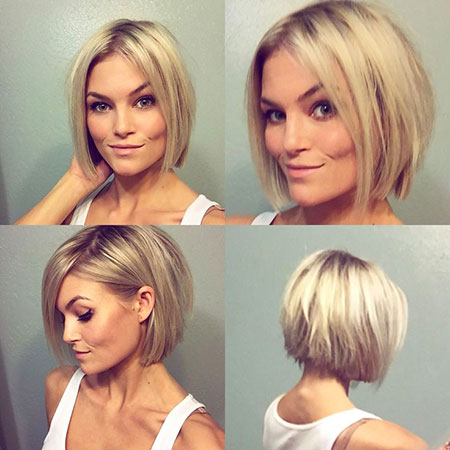Short Hairstyles, Blonde Bob Hairstyles, Blonde Hairstyles, Underneath, Stacked