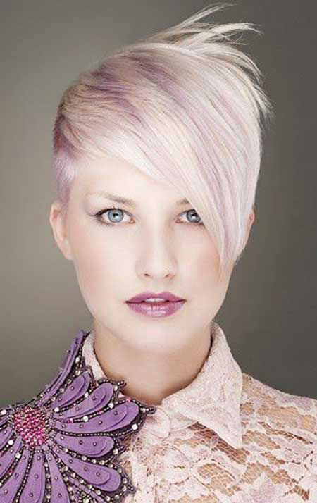 Short Hairstyles, Women, Shaved, Really, Platinum, Pixie Cut, One, Long