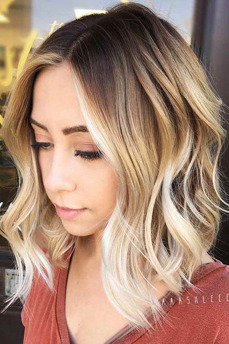 Blonde Hairstyles, Short Hairstyles, Balayage, Curly