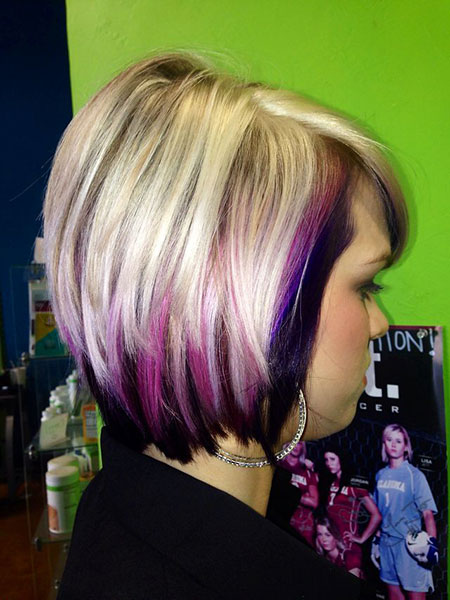 Purple, Highlights, Blonde Hairstyles