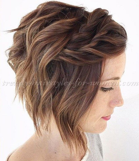 Woman, Short Hairstyles, Layered