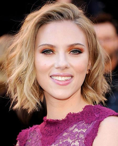 Short Hairstyles, Scarlett, Johansson, Platinum, Pixie Cut