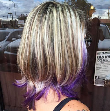 Purple, Blonde Hair