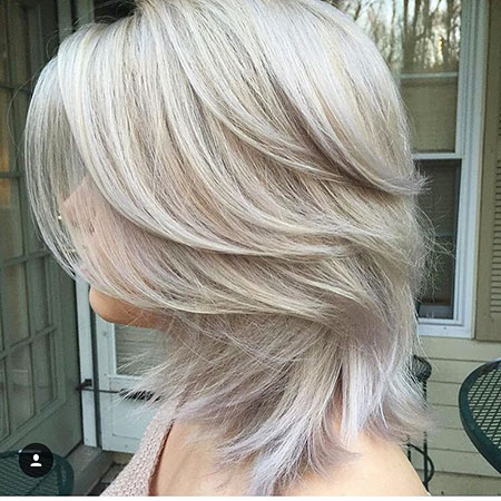 Blonde Hairstyles, Highlights, Balayage, White, Silver, Short Hairstyles