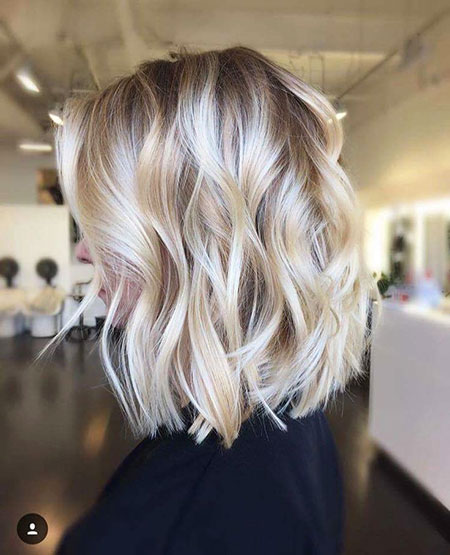 Blonde, Balayage, Bob, Women, Summer, Spring, Soft, Short
