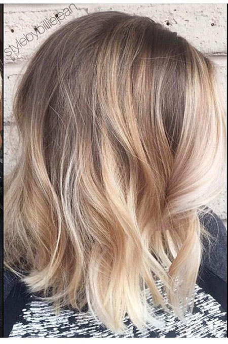 Blonde, Balayage, Medium, Highlights, Bob, Blond, Ash