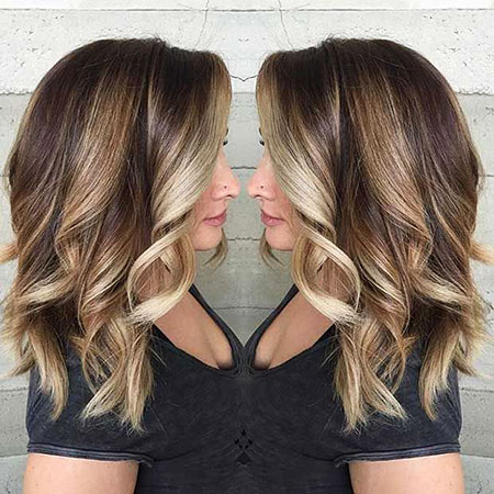 Blonde, Balayage, Lob, Highlights, Really, Ombre, Medium
