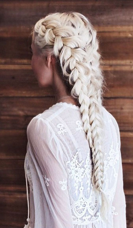 Wedding, Braid, Women, Waterfall, Very, Trendy, Sleek, Plaited, Plait