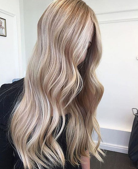 Blonde Highlights Long Balayage Bronde Beige