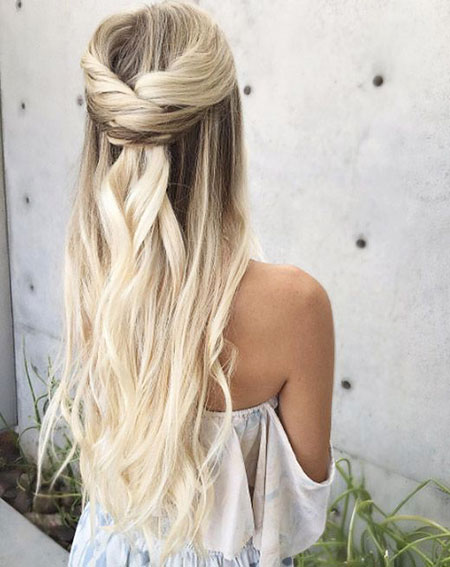 Half, Updo, Up, Summer, Full, Easy, Cute, Braided, Beach, All
