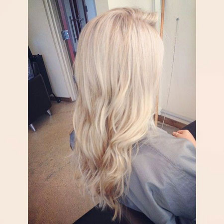 Blonde Highlights Balayage White Platinum Fashion