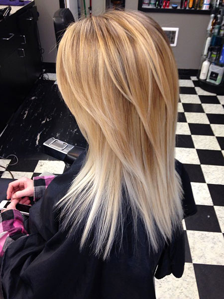 Blonde, Balayage, Shaggy, Shades, Ombre, Lowlights, Long