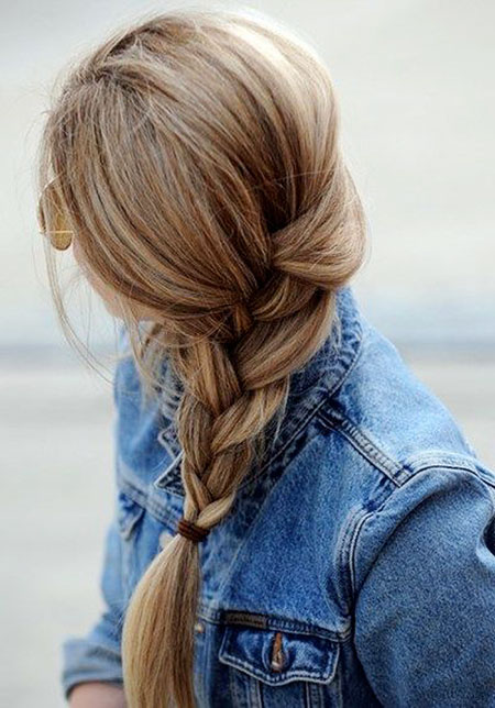 Loose Braid Simple Side Braids Updo Up Tail Ponytail