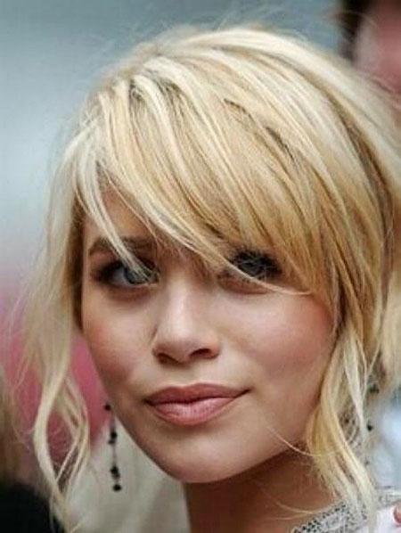 Short Hairstyles, Bangs, Cute Hairstyles, Messy, Long, Blonde Bob Hairstyles