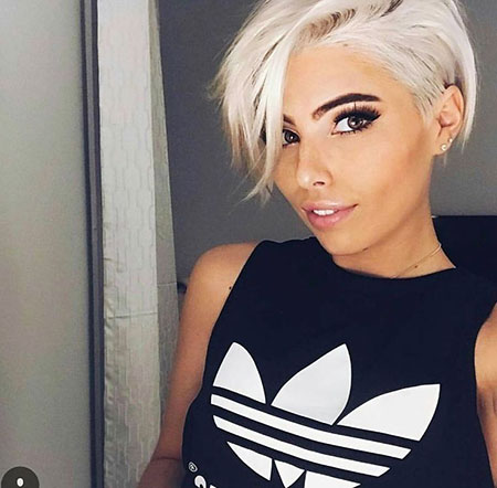 Short Hairstyles, Pixie Cut, Blonde Hairstyles, Women, Platinum