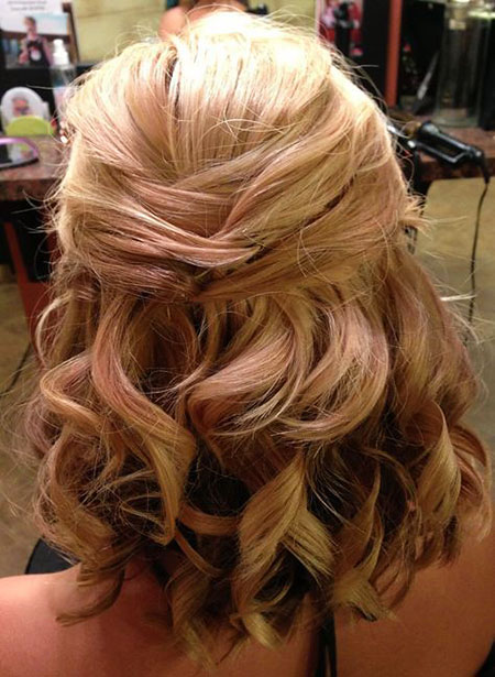 Wedding, Down, Updo, Straight Hairstyles, Stacked