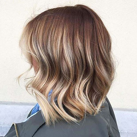 Blonde Bob Hairstyles, Balayage, Long