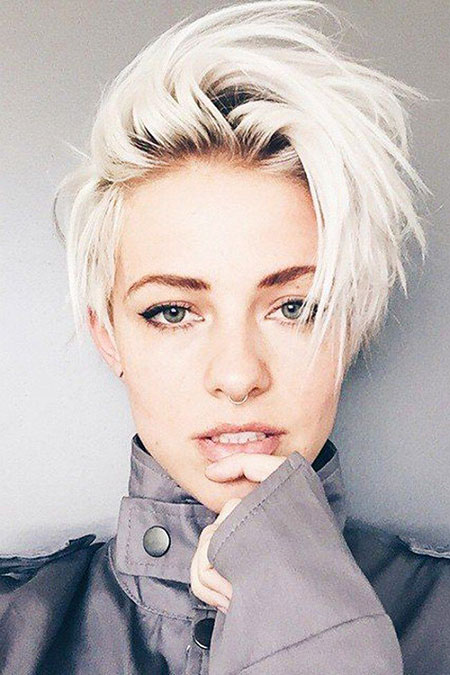 Short Hairstyles, Pixie Cut, Blonde Hairstyles, Platinum, Women