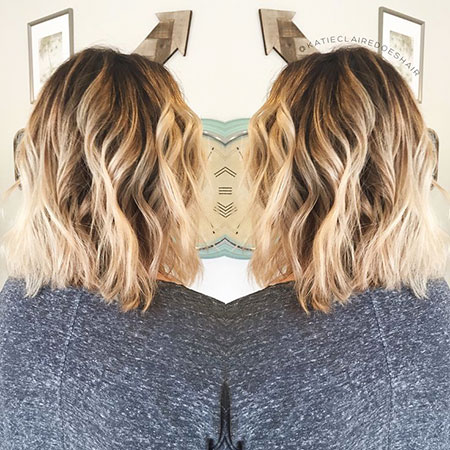 Blonde Hairstyles, Short Hairstyles, Balayage, Women, Shag, Ombre