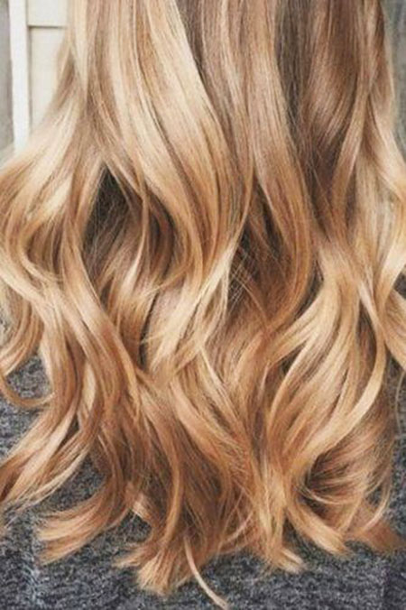 Blonde, Balayage, Ombre, Medium, Length, Highlights, Golden