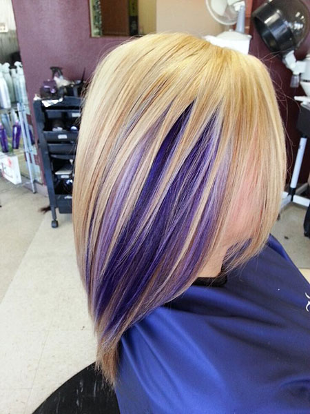 Highlights, Purple, Bob, Blonde, World, Straight
