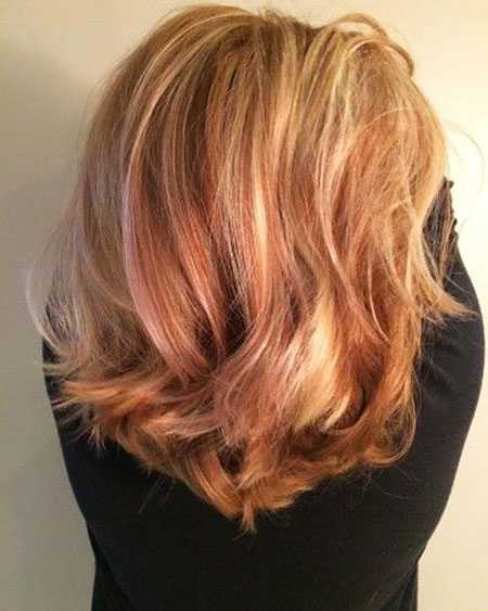 Highlights, Strawberry, Blonde, Short, Shades
